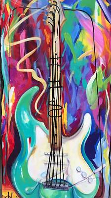 Musical Whimsy  Art Print by Heather Roddy