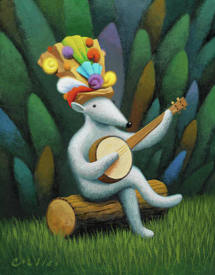 Wall Art - Painting - Musician 1 by Chris Miles