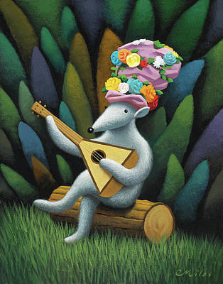 Wall Art - Painting - Musician 2 by Chris Miles