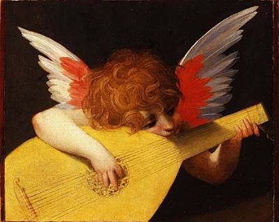 Musicians Royalty Free Images - Musician Angel by Rosso Fiorentino, circa 1520 Royalty-Free Image by Rosso Fiorentino
