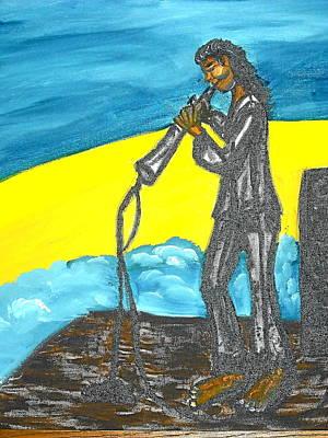 Musician Art Print by BJ Abrams