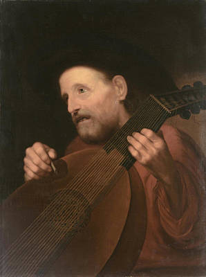 Flemish School Painting - Musician by Celestial Images