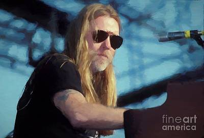 Photograph - Gregg Allman Oil Painting Enlargments by Concert Photos