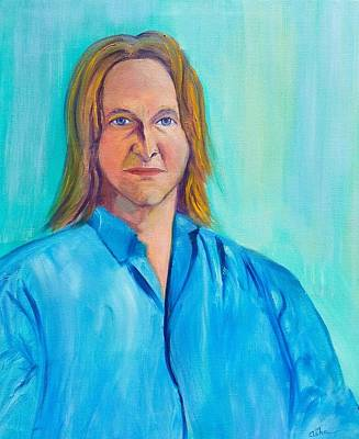 Painting - Musician, Spiritualist And Engineer by Asha Carolyn Young