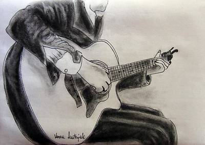 Musicians Drawings - Musician by Vesna Martinjak