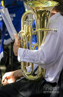 Musicians Royalty Free Images - Musician with polished tuba Royalty-Free Image by Patricia Hofmeester