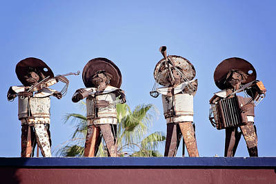 Musicians Royalty Free Images - Musicians at the Hotel California Todos Santos MX Royalty-Free Image by Deana Glenz