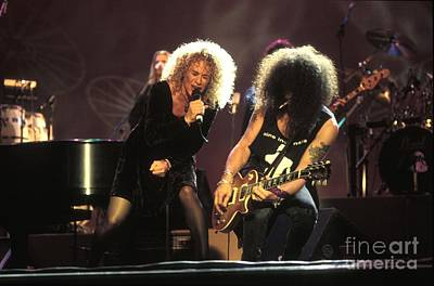 Slash Photograph - Musicians Carol King And Slash by Concert Photos