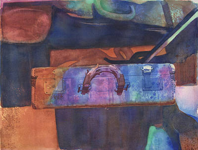 Musicians Royalty Free Images - Musicians Case Watercolor Royalty-Free Image by Michele Angel