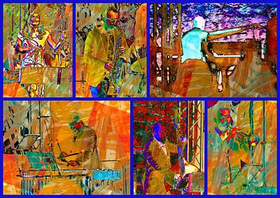 Xylophone Digital Art - Musicians Collage by Dorothy Berry-Lound