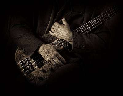 Photograph - Musicians Hands In Monochrome by David and Carol Kelly