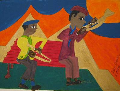 Painting - Musicians by Joan Dance