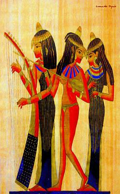 Family Painting - Musicians Of Egypt - Da by Leonardo Digenio