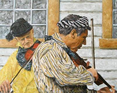 Click Galleries Painting - Musicians by Richard T Pranke