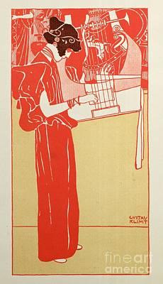 Jugendstil Painting - Musik by Gustav Klimt