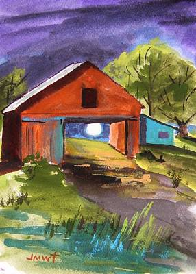 Blue Barn Doors Drawing - Musing-chinese New Year by John Williams
