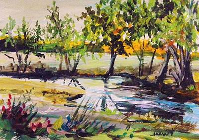 Painting - Musing- Meadow Stream by John Williams