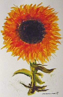 Painting - Musing-sunflower by John Williams