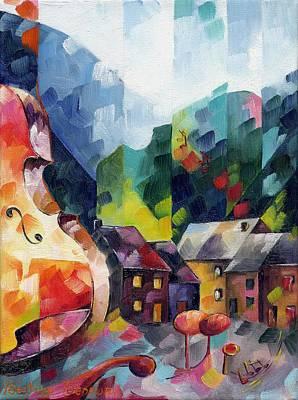 Cubism Painting - Musique by Beatrice BEDEUR