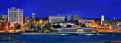Photograph - Muskegon Downtown Panorama  by Jeff S PhotoArt