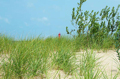 Photograph - Muskegon Dunes Lighthouse In Michigan by Ken Figurski