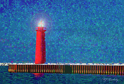 Muskegon Lighthouse Art Print by Marti Buckely