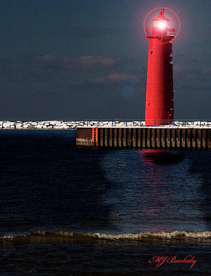 Muskegon Mi Lighthouse Art Print by Marti Buckely
