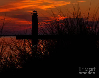 Muskegon Lighthouse Wall Art - Photograph - Muskegon Nights by Emily Kay