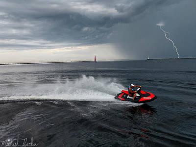 Photograph - Muskegon South Pier Lighthouse by Michael Rucker