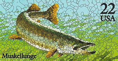Muskellunge Painting - Muskellunge by Lanjee Chee
