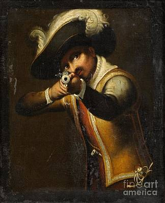 Musket Mixed Media - Musketeer by Frederick Holiday