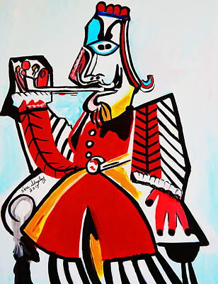 Painting - Musketeer by Nora Shepley