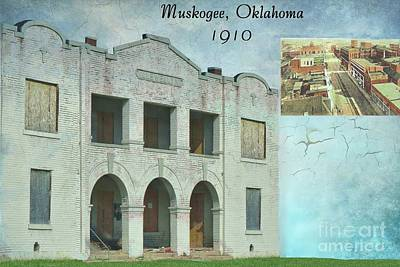 Mixed Media - Muskogee, Oklahoma 1910 by Janette Boyd