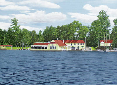 Painting - Muskoka Lakes Golf And Country Club by Kenneth M Kirsch