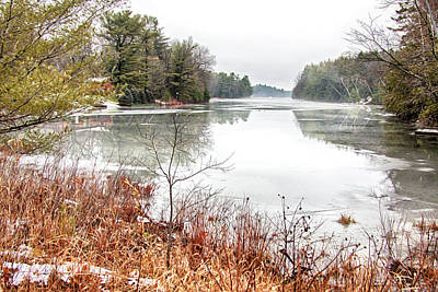Photograph - Muskoka Lakes In December by Tatiana Travelways