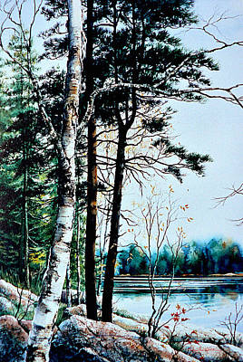Painting Rights Managed Images - Muskoka Morning Royalty-Free Image by Hanne Lore Koehler