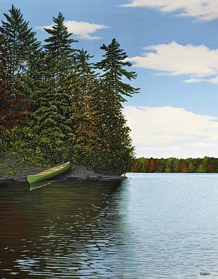 Muskoka Shores Art Print by Kenneth M  Kirsch