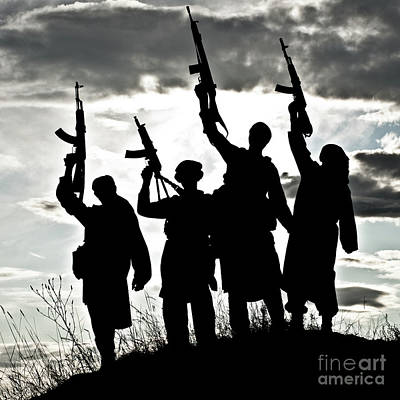 Jihad Photograph - Muslim Militants by Oleg Zabielin