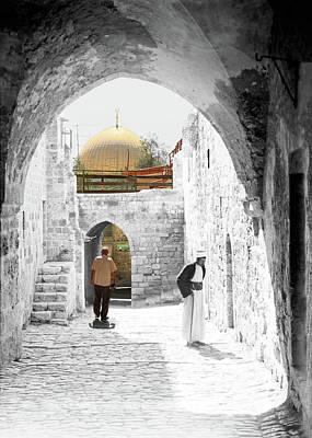 Photograph - Muslim Quarter Street by Munir Alawi