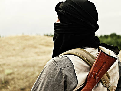 Jihad Photograph - Muslim Rebel by Oleg Zabielin