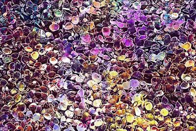 Digital Art - Mussels Shells Mussel Shells  by PixBreak Art