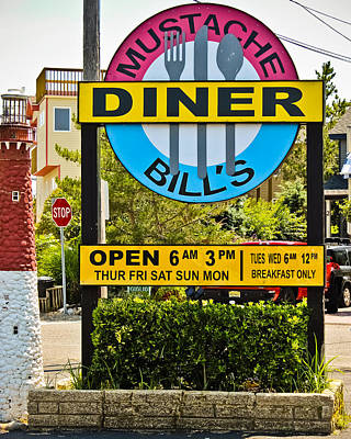 Photograph - Mustache Bill's Sign by Colleen Kammerer