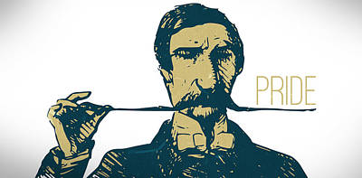 Digital Art - Mustache Lover Art - Vintage Hipster Style Proud Man by Wall Art Prints
