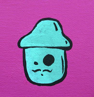Spray Paint Mixed Media - Mustache Mushroom by Jera Sky