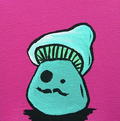 Spray Paint Mixed Media - Mustache Zombie Mushroom by Jera Sky