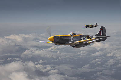 P51 Photograph - Mustang - 442 Sqdn  Rcaf by Pat Speirs