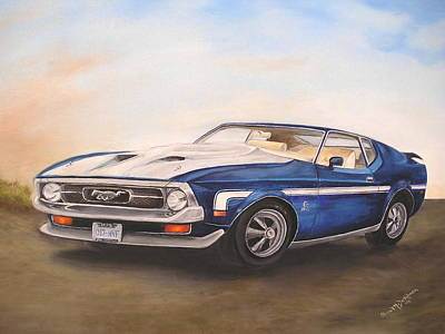 Art Print featuring the painting Mustang by Anna-Maria Dickinson