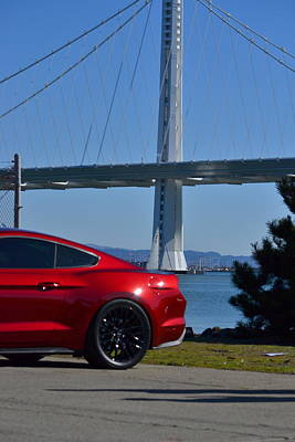 Photograph - Mustang At New Span Of Bay Bridge Sf by Dean Ferreira