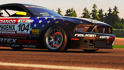 Photograph - Mustang Boss 302r1 - Stars And Stripes Livery - 2 by Andrea Mazzocchetti