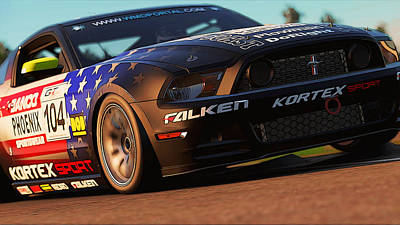 Photograph - Mustang Boss 302r1 - Stars And Stripes Livery by Andrea Mazzocchetti
